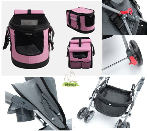 ddhouse Singapore online pet supplies - 3 In 1 Pet Stroller