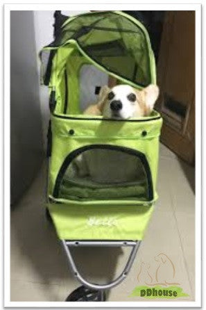 Green Color 3 Wheel Pet Stroller