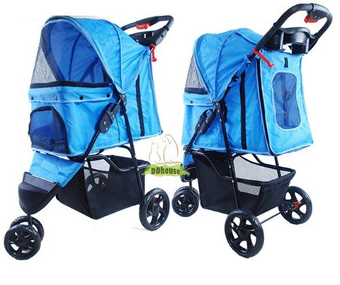 Light Blue Pram - DDhouse Online Pet Supplies
