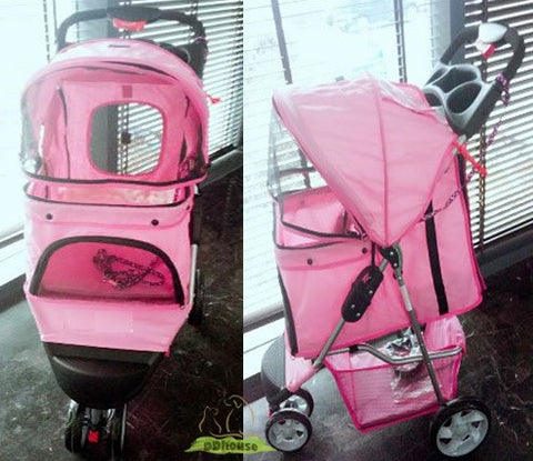 3 wheel pet stroller for dog and cats