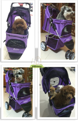 Purple Color 3 Wheel Pram - DDhouse