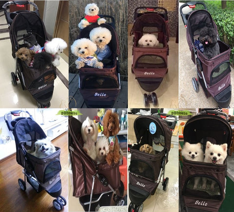 Brown Color Pet Pram - DDhouse