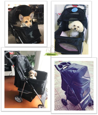4 wheel Pet Pram - DDhouse online pet Supplies