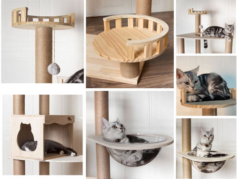 Wooden Cat Toys Cat Climbers Singapore Modern Wood Cat Tree. Kitty Mansions Redwood Cat Tree