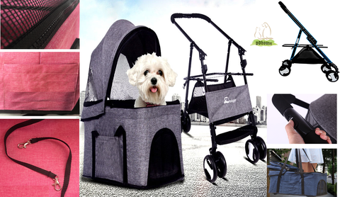 3 in 1 pet stroller carrier car seat