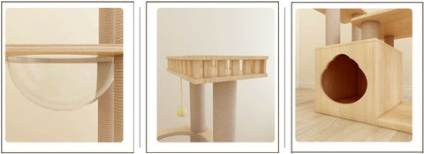 Scratch Post with luxury space capsule, Do you have more than one cat in house? And do your Rebels like quality and luxury?