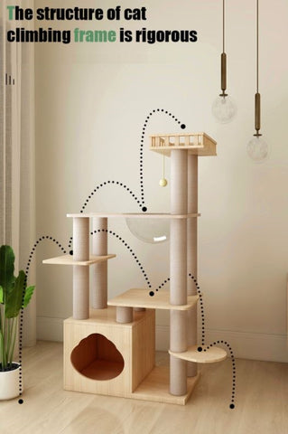 Best wooden cat tree in Singapore multiple play area premium quality