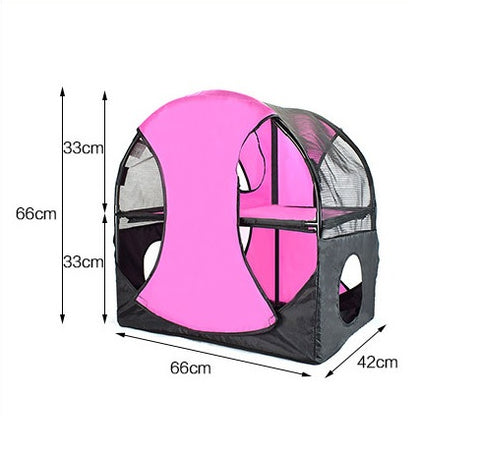 Cat Jumping Platform Double-Layer PVC Oxford Fabric Pet Cats Tent House Tunnel Climbing Scratching Exercise Activity Singapore