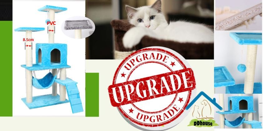 Scratching Pole Material :  Natural Sisal Rope Inner PVC Pole Type Cat Tree Cat Climbers Cat Condos