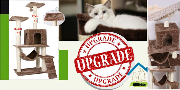 Singapore Good Quality Cat Tree With Improved PVC scratching Post Cat Climbers