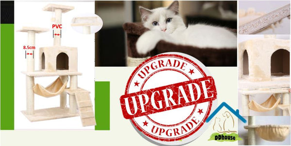 Cat Tree Cat Condos PVC Upgrade Extra Thickness Scratch Pole
