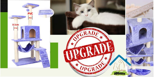 PVC Scratcher Pole Extra Thickness Premium Cat Tree Singapore Cat Condos