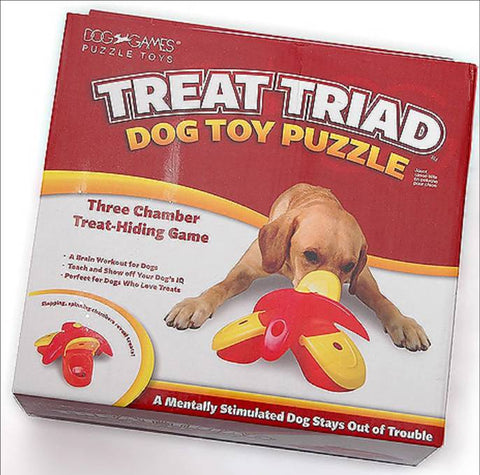 Kyjen Treat Triad puzzle toy Dog Game Outward Hound Puzzle IQ Dog Games Interactive Dog Game Singapore