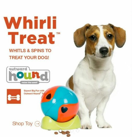Outward Hound Whirli Treat Dog Toy Kyjen Treat Dog Toys IQ Toys for dogs Puzzle for dog Pet Toys
