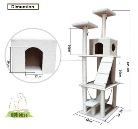 Brown Tall Large Size Cat Gym for Cat and kitten | DDhouse