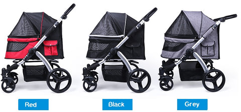 The Doggy Stroller is designed for Medium to large breed dog or senior or dogs with special needs.