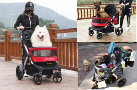 Pet Strollers Extra Large Pet Prams for large Dogs Senior Injured Dogs Pet Stroller for Multiple dogs and Cats