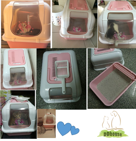 Pink Color Cat Litter Tray- DDhouse