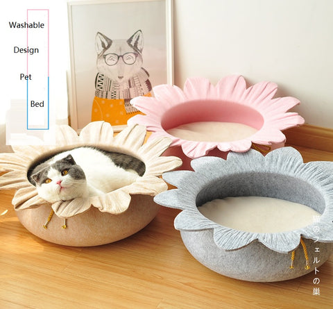 Flower Shape Pet Bed Cat Nest