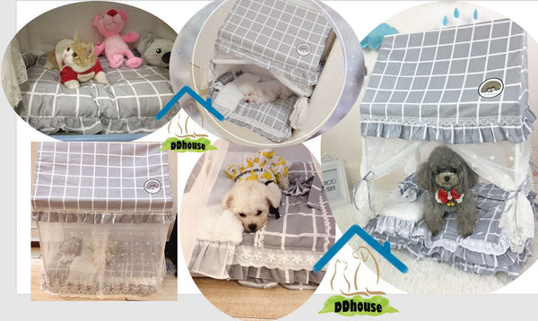 Princess Canopy Pet Bed for cats