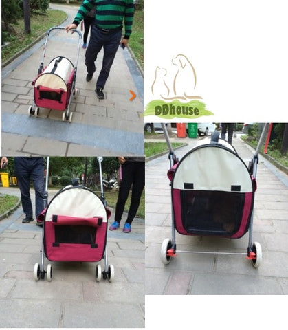 2 In 1 foldable & detachable Pet pram Pet Carrier Cat Trolley Dog Trolley Pet Strollers Pet Pushchair