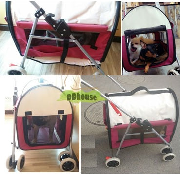 2 In 1 , 4 Wheel foldable & detachable Pet pram/ Carrier