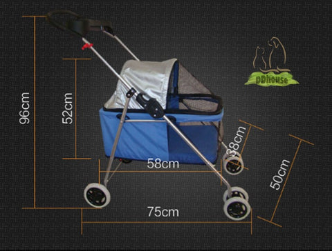 dimension of light weight pet stroller