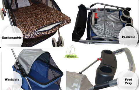 features of the light weight pet stroller