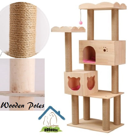 Wooden Pole Scratchers for Cats