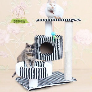 white tiger medium size cat tree suitable for all