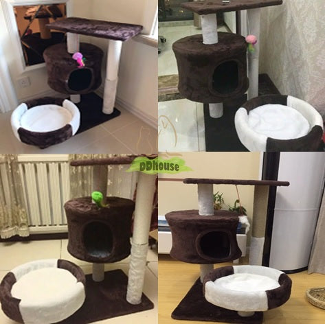 Coffee white Medium size Cat Play House