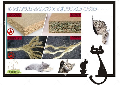 good quality wood and sisal rope cat tree