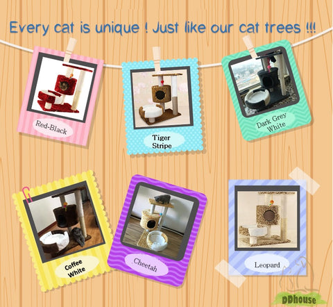 size M cat tree cat condo cat scratching pole