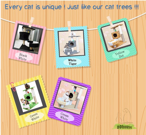 brown white Size M cat tree suitable for all cat kitten