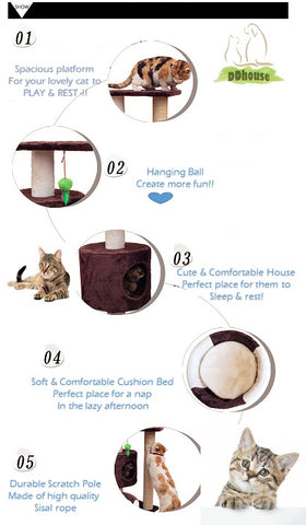 high quality cat tree thick sisal rope more lasting