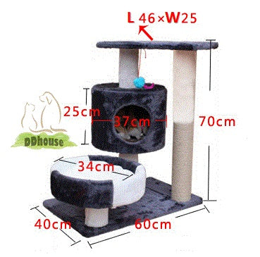 black red cat tree cat house for all kitten and cat