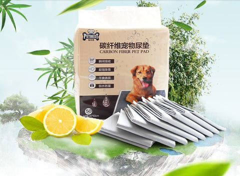 Natural Charcoal Superabsorbent Antibacterial Deodorizing Lemon Fragrance Pee Pads for Dogs Carbon Pee Pad Charcoal Pee Pad Charcoal Training Pad Pet pee pad-Pet sheet-House training dogs-Pet pad-Pet Toilet