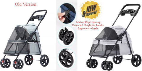 New Improved Light weight strollers for dogs and cats. foldable dog cart cat prams travel carrier singapore seller