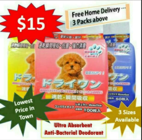 Singapore Pet Training pad Pee Pets Underpad