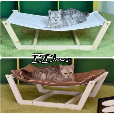 Large Size Wooden Pet Hammock Bed - DDHouse Online Pet Supply