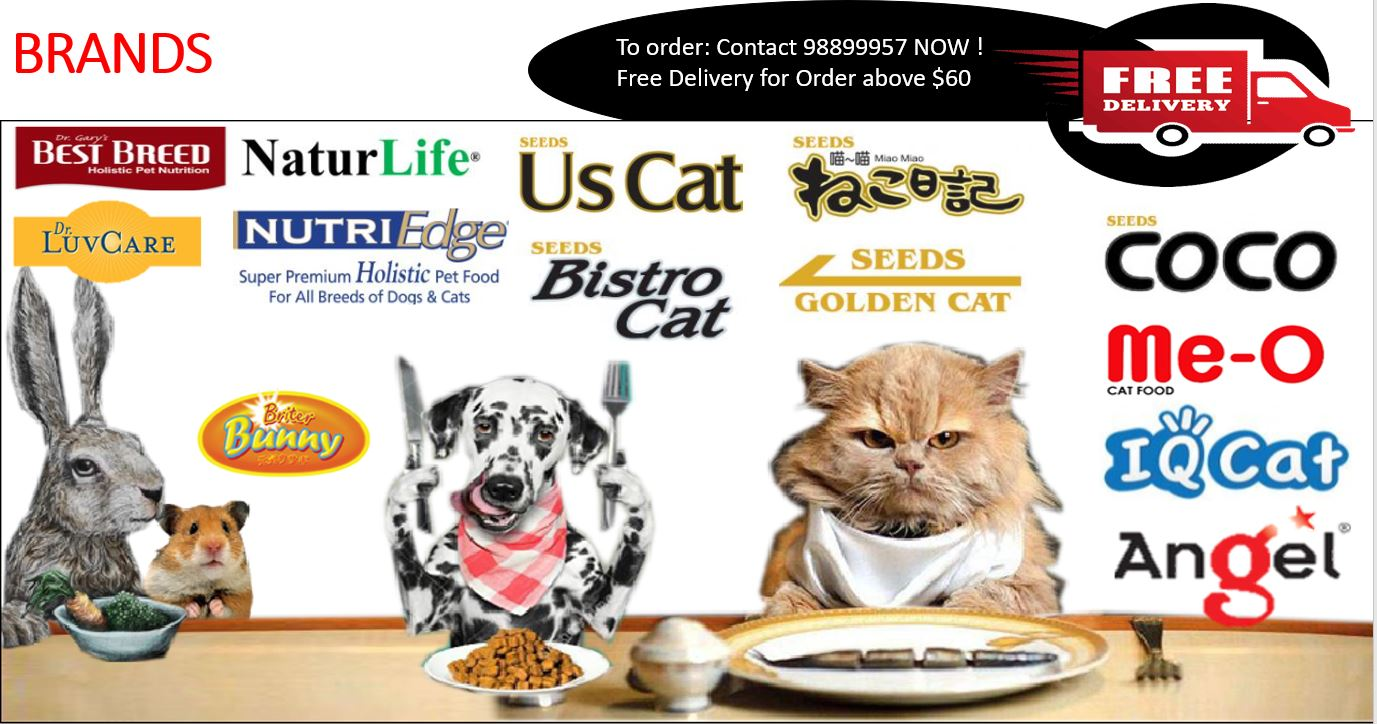 Singapore Pet supplies and Pet Food Free Delivery Islandwide