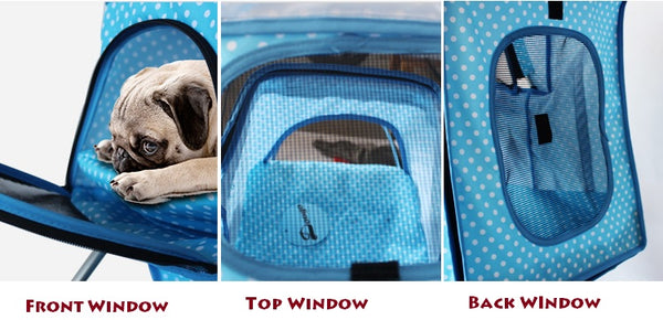 Multiple window Pet Stroller