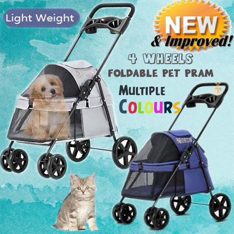 Pet Stroller Pram Trolley for Dog or Cats singapore