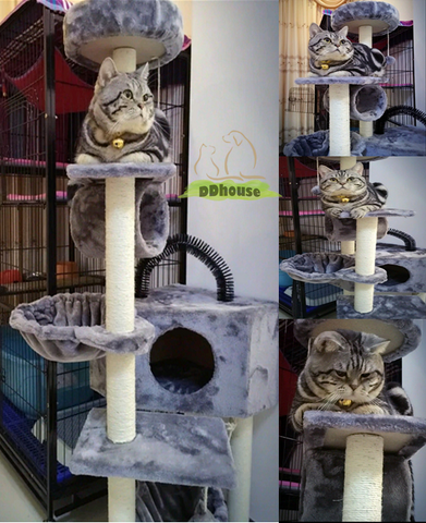 Light Grey Good Quality Large & tall Cat tower | DDhouse