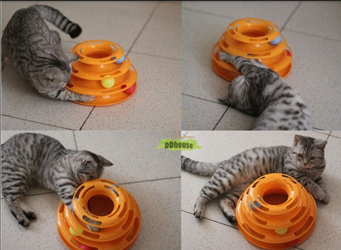 3 Tier Tower Of Track Cat Toy - DDhouse