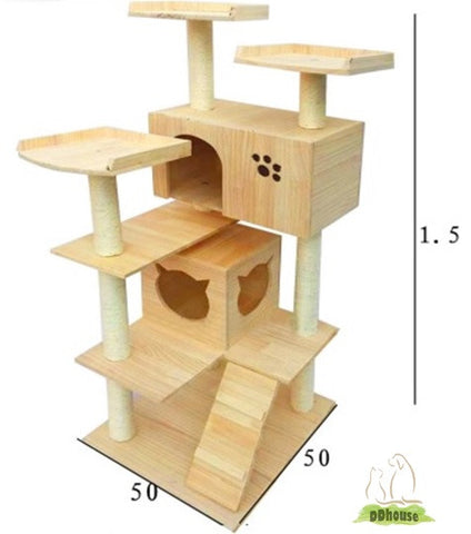 Triple Perches Cat Climber For Cat And Kitten