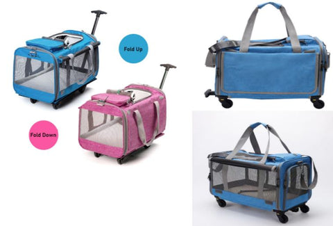 A Telescopic Handle easily converts the Carrier into a Stroller and the whole carrier can be folded completely flat for convenient storage