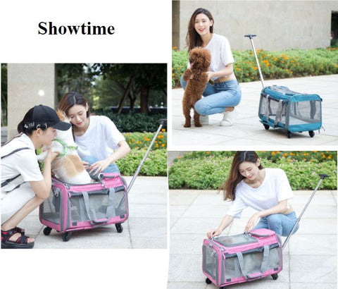 Perfect Pet Trolley Bag Rolling Carrier