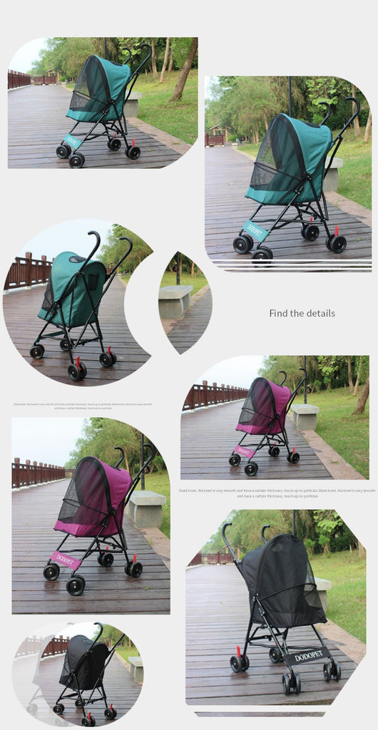 collapsible pet stroller Light Weight