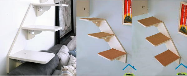 Cat-Friendly Modular Bookshelf Cat Scratching Posts on the wall Cat Scratches Cat Stand Cat Climbers Cat Staircase